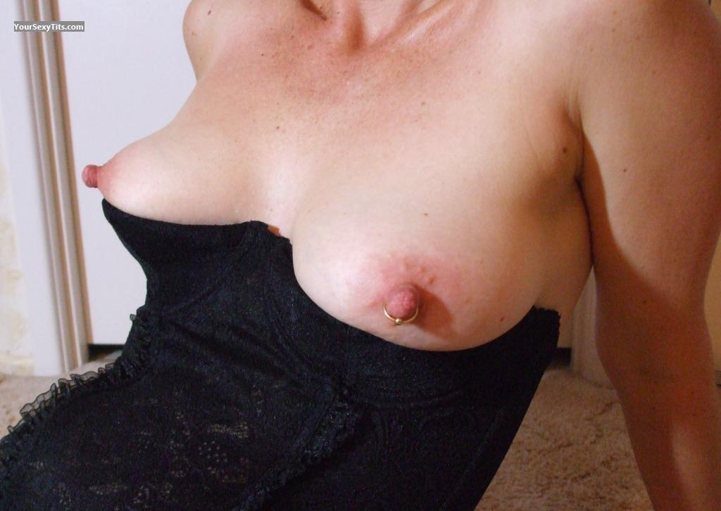 Tit Flash: Medium Tits - Dragonfly from AustraliaPierced Nipples
